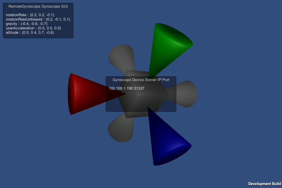 gyromote unity3d remote screenshot
