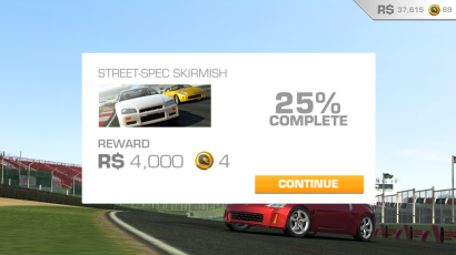 Real Racing 3 Challenge 25 Percent Done