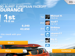 Real Racing 3 Turbo Burst - European Faceoff Endurance