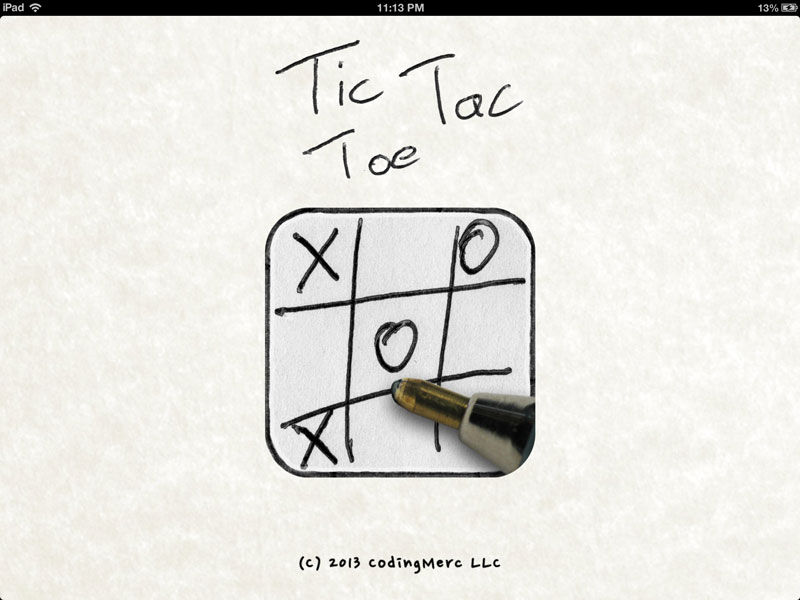 Tic Tac Toe Doodle Classic iPad Screenshot
